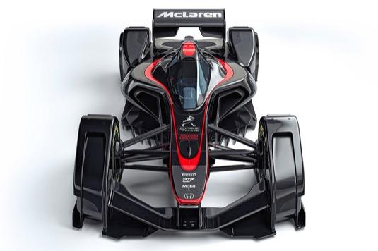 auto koncept formule 1 McLaren MP4-X
