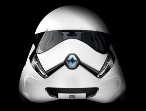auto elektromobil Renault Zoe v motivu Stormtrooper Hvězdné války Star Wars