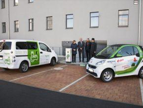 Slavnostní otevření nové nabíjecí stanice pro elektrická auta v Písku