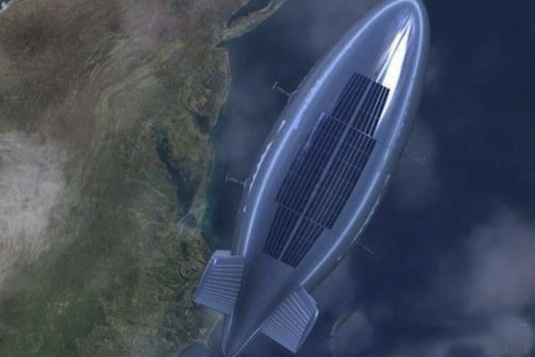 Energie pro čínskou vzducholoď pochází ze solárních článků.