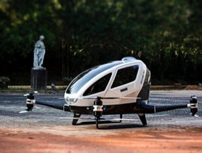 auto létající robotická autonomní dron EHang 184