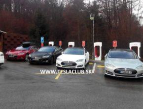 První nabíječka Tesla Supercharger na Slovensku u Hotelu Kaskády