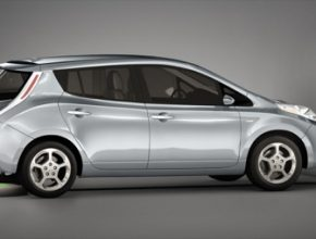 auto bezdrátové nabíjení elektromobilu Nissan Leaf