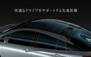 auto solární panel Toyota Prius Prime plug-in hybrid
