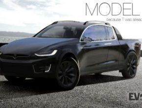 auto elektromobily Tesla Model P pick-up