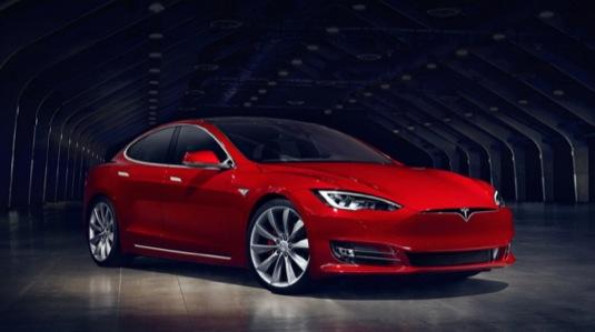 auto elektromobil Tesla Model S facelift 2016