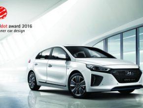 auto Hyundai Ioniq má designové ocenění Red Dot Design 2016