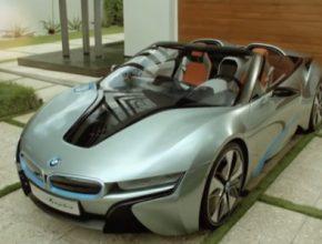 auto BMW i8 Spyder plug-in hybrid facelift CES 2016