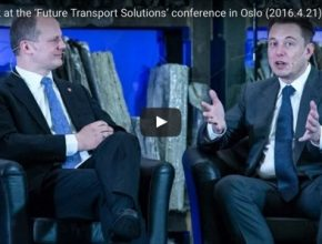 auto Elon Musk Norsko Oslo konference Future Transport Solutions