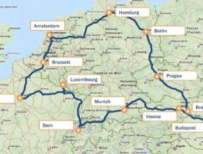 auto mapa evropy etour europe rallye elektromobily