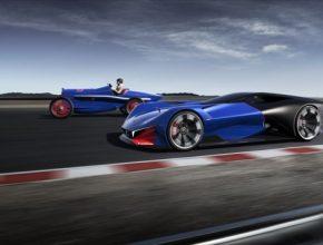 auto koncept závodního hybridu Peugeot ukázal koncept závodního hybridu Peugeot L500 R