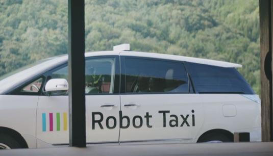 auto robot taxi robotické auto
