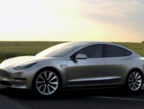 auto elektromobil Tesla Model 3 render 2016