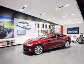 auto Tesla Store obchod USA
