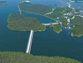 vodní elektrárna São Luiz do Tapajós v oblasti Amazonie