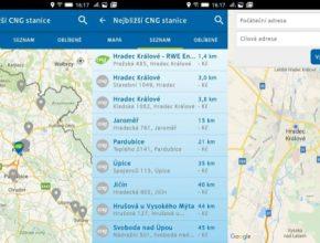 auto CNG stanice v ČR již v několika mobilních aplikacích