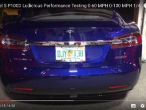auto Tesla Model S P100D elektromobil zrychlení
