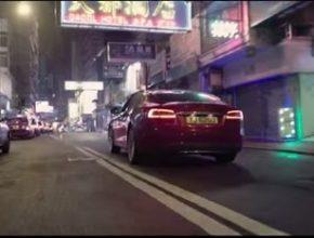 auto elektromobil Tesla Model S v Hong Kongu