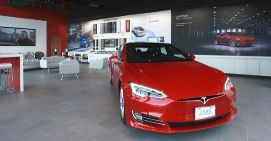 auto Tesla Store Georgia prodejna elektromobil Tesla Model S
