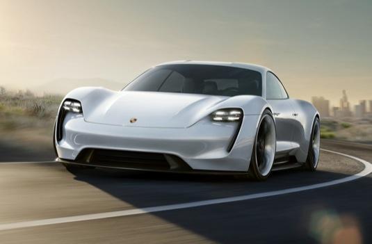auto elektromobil Porsche Mission E koncept autosalon Frankfurt Paříž