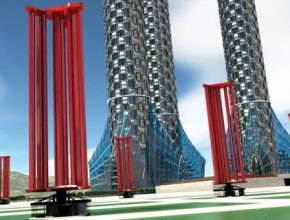 koncept větrné elektrárny japonské společnosti Challenergy