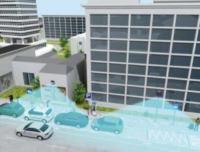 auto chytré parkování Siemens Berlín