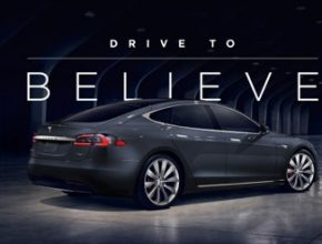 auto elektromobil Tesla Model S Drive to Believe