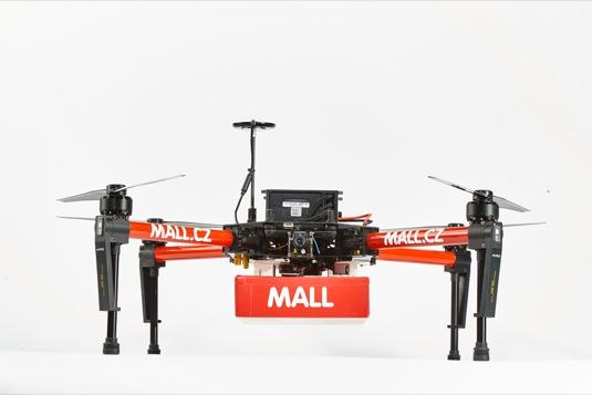 mall.cz doručování zboží dron