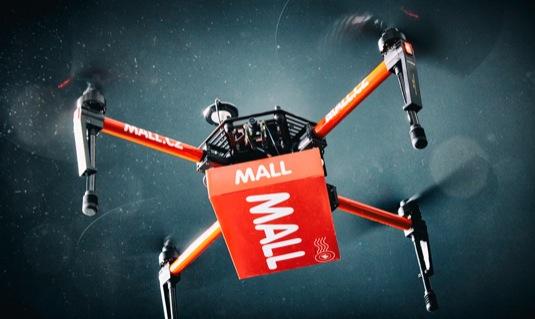 auto Mall.cz doručování zboží s pomocí dronu