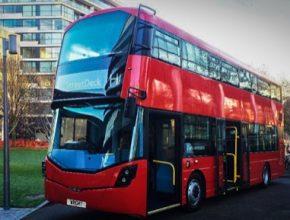 auto vodíkový autobus doubledecker Wrightbus Británie Londýne