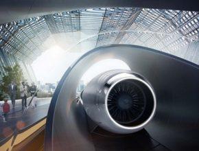 Představa stanice systému Hyperloop společnosti Hyperloop Transportation Technologies