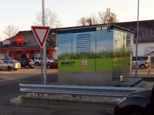 auto nová CNG stanice Bonett v Turnově