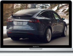 auto Apple Macbook Pro Tesla Model X elektromobil