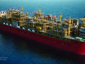auto Shell Prelude FLNG loď zpracovávající zemní plyn