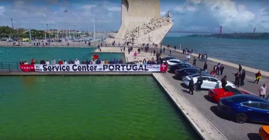 auto Tesla Portugalsko servisní centrum