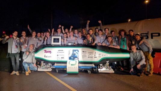 auto vítězové Delft University Hyperloop