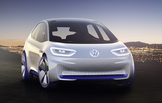 auto Volkswagen I.D. koncept elektromobilu
