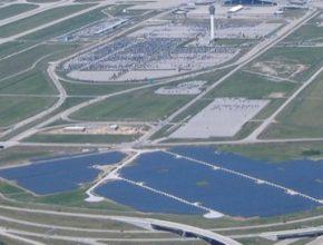 solární elektrárna letiště v Indianapolis