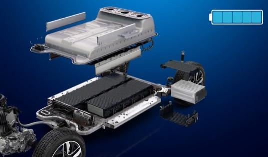 uložení baterie v elektromobilu Renault Zoe