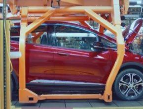auto výroba elektromobilu Chevrolet Bolt EV