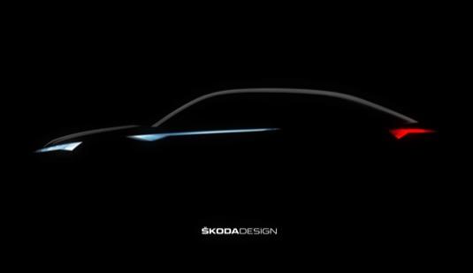 auto Škoda Vision E Šanghaj elektromobil