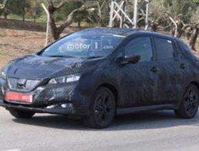auto nová generace elektromobilu Nissan Leaf pod kamufláží