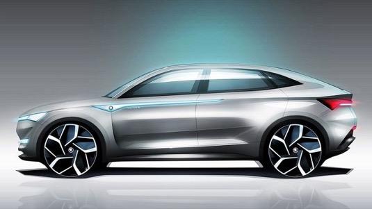 auto elektromobil Škoda Vision E studie
