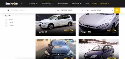 auto SmileCar carsharing sdílení aut