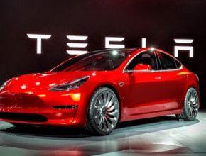 auto Tesla Model 3 představení elektromobilu