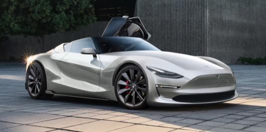 auto elektromobil nový Tesla Roadster 2019 P100D