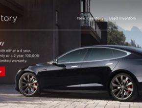 auto elektromobil Tesla Model S bazarový prodej pre-owned