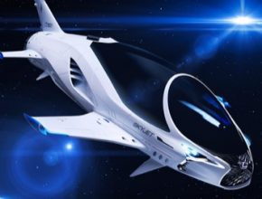 Lexus Skyjet Valerian vesmírná loď epické sci-fi film