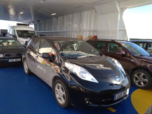 Narozdíl od Norska v Estonsku musíte za elektromobil na trajektu platit stejně jako za spalovák.