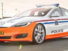 auto elektromobil Tesla Model S Lucembursko policie Grand Ducale
